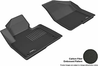 3D MAXpider Front Row Custom Fit All-Weather Floor Mat for Select Hyundai Santa Fe Models - Kagu Rubber (Black)