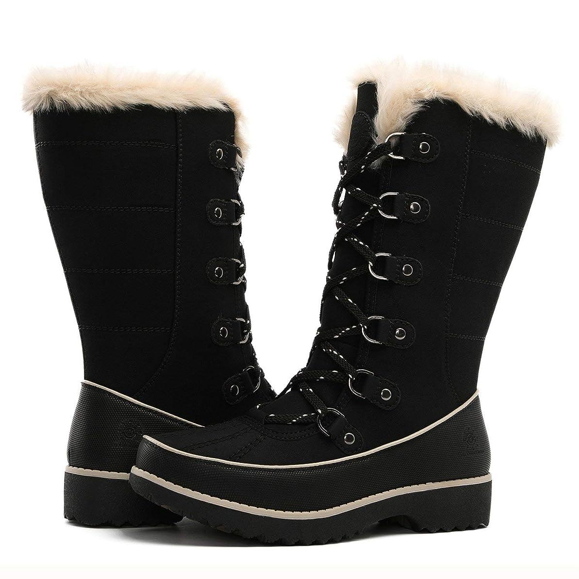 是正バンドルトリクル[Global Win] Women`s Fur Trek Winter Bootsレディースファートレックウィンターブーツ (並行輸入品)