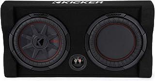 KICKER TRTP 10-inch (25cm) Thin Down Firing Subwoofer and Passive Radiator Enclosure, 2-Ohm, RoHS Compliant