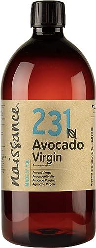 Naissance Huile d'Avocat Vierge (n° 231) - 1 litre - 100% pure, naturelle, non-raffinée et pressée à froid - végan, n...