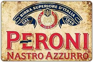 Peroni Nastro Azzurro Beer 1846 Vintage Wall Décor Art Metal Bar Pub Italia Brewery Aluminum 8