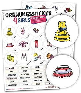 Typographus - 68 autocollants adaptés aux enfants pour les vêtements – pour les armoires, les boîtes et les meubles – pour...