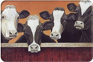 """Custom Door Mat Funny Milk Cow Decorative Indoor/Outdoor 23.6"""" x 15.7"""" Cartoon Animals Decor Rug"""