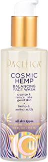 Pacifica Beauty Cosmic Hemp Balancing Face Wash Cleanser for All Skin Types, Balance & Fight Oily Build Up, Leaves Skin So...