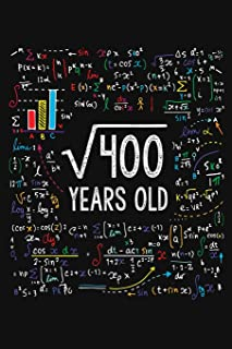 Square Root Of 400 Years Old: Twenty 20th Birthday Gifts Blank Lined Notebook 20 Yrs Bday Present for Student Turning 20 Born In 1999 Anniversary Diary Twentieth B-Day Men Women Math Equation