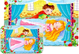 Yale Sleeping Beauty Kid 60 Piece Jigsaw Puzzle Game for 3-10 Age,Portable Box Pack Toy