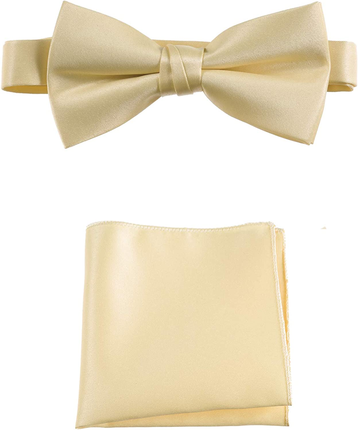 Tuxgear Mens and Kids Adjustable Bow Tie and Pocket Squares in Assorted Colors