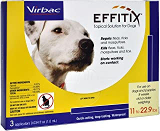 Effitix Topical solution for Dogs 11-22.9 lbs