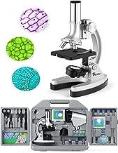 TELMU Mikroskop 40X-1000X Vergr/ö /ß erung Optik Glas neugierige Kinder und Erwachsene