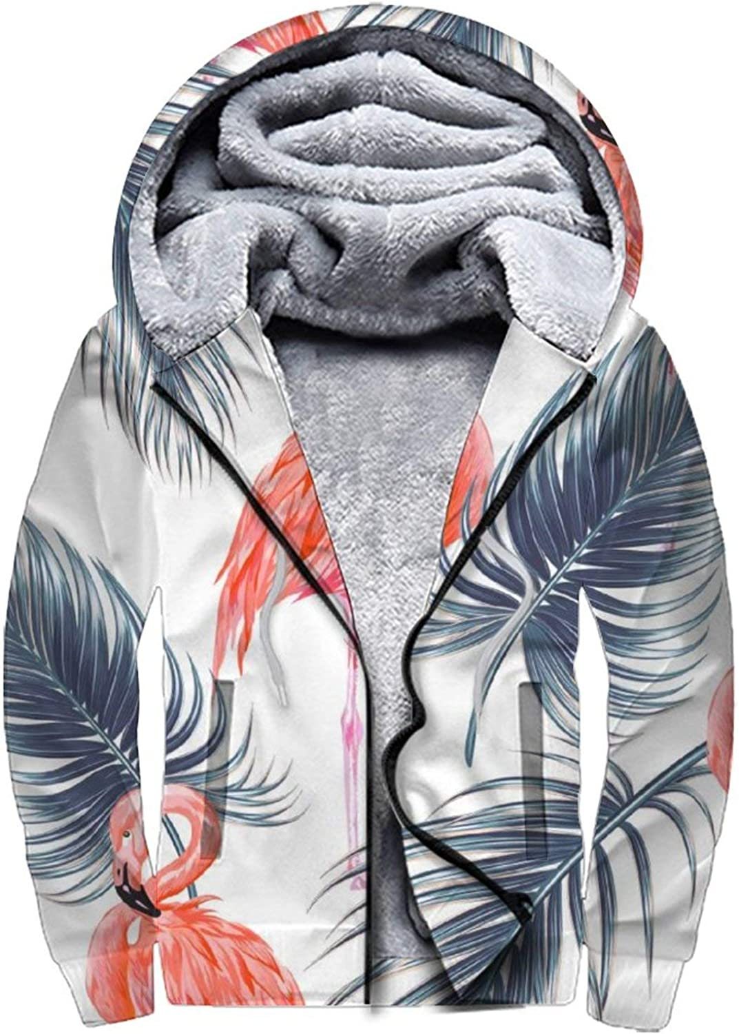 Mens Hoodies Tropical Pink Flamingos Palm Jungle Leaves Vintage Free Free shipping Shipping Cheap Bargain Gift