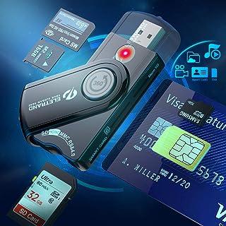 6 en 1 Lector de tarjetas inteligentes USB DOD Military USB CAC SD Micro SD M2 MS Lector de tarjetas de memoria SIM, lecto...