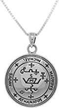 Jewelry Trends Sterling Silver Archangel Michael Sigil Pendant Necklace 18