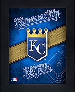 Kansas City Royals 3D Poster Wall Art Decor Framed Print   14.5x18.5   Lenticular Posters & Pictures   Memorabilia Gifts for Guys & Girls Bedroom   MLB Baseball Sports Team Fan Poster for Man Cave