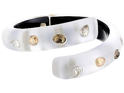 Alexis Bittar Crystal Studded Bypass Hinge Bracelet (Silver) Bracelet