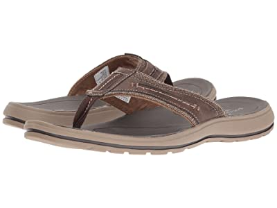 Dockers Compton Thong Sandal (Dark Brown) Men