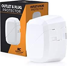 SimpleCord Outlet Cord Cover- Sliding Door Electrical Socket Protector- for Childproofing Safety & Prevents Unplugging- De...