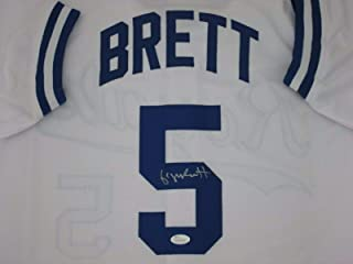 Kc Royals George Brett Autographed White Jersey (Size XL) Signed - 1999 Hof - JSA Certified