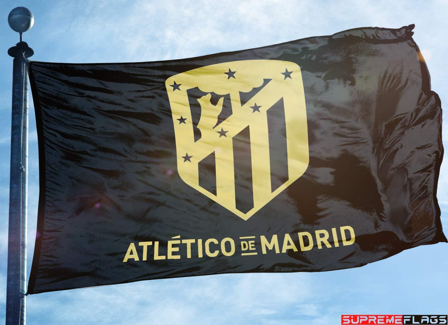 Bandera del Atlético de Madrid 3 x 5 Bandera de fútbol de España ...