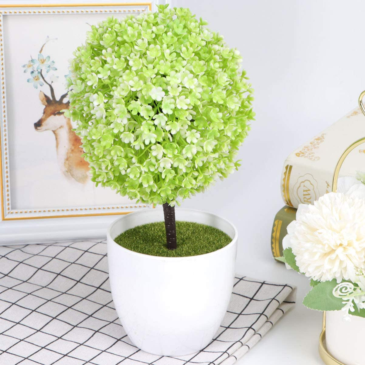 Garneck Artificial Potted Popularity Plant Floral Simulated Max 54% OFF Topia Ball