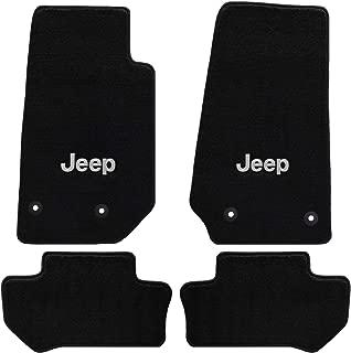 Jeep Wrangler 4 Pc Lloyd's All Weather Carpet Floor Mats w/Silver JEEP Logo Custom fits 2014-2017 2018 2 Door Model Only