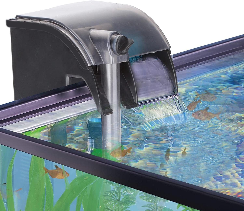 Nobleza - Filtro per Acquario, Filtro per Acquario 3 in 1 per Appendere 280 L/H, Sistema di Filtraggio con Pompa dell'Acqua Integrata, Disegno a Cascata, Risparmio Energetico 5W