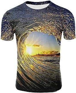 TS Men's Shirt Galaxy Graphic 3D Print Short Sleeve Casual Tops