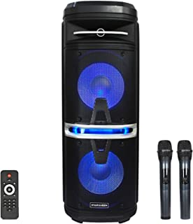 $239 » STARQUEEN Karaoke Machine for Adults Bluetooth PA System Speaker with Dual 10 Inch Woofers LED Light 2 Wireless Microphone...