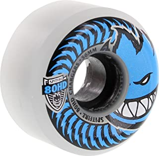 Spitfire Wheels 80HD Charger Conical Clear / Blue Skateboard Wheels - 56mm 80a (Set of 4)