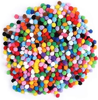 Pompons sortidos de 10 mm da Exceart, 2000 peças, bolas de pompom para artesanato, mini pompons para decorações criativas ...