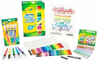 Crayola Crayoligraphy Calligraphy Kit Hand Lettering for Beginners Gift 60+ Pieces