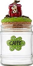 Paolo przezroczyste 14011 puszka na kawę z aplikacją mucchina, wielokolorowa, 10 x 10 x 17 cm