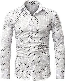 Contrasto Uomo Basic Camicie Business Tempo Libero Manica Lunga Vestito Matrimonio Camicia r-44