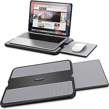 AboveTEK 膝上テーブル ノートパソコン スタンド 7~15.7インチ対応 優れた放熱性 軽量 Macbook Air/Macbook Pro/iPad Pro/Notebooks 収納式マウスパッド 携帯用ひざ上PCスタンド 冷却台 ノートパソコン用 滑り止