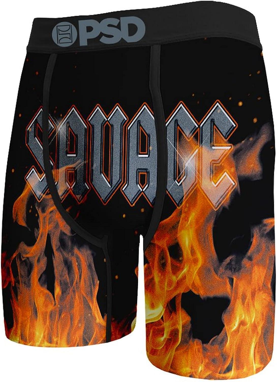 PSD Men's Brief (Black/Savage Flames, XS)