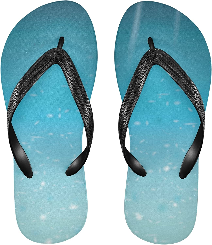 Nander Seawater Sun Ocean Women's Sandal Flip Flops Soft Comfortable Beach Slippers Unisex Adult Durable Flip Flops Shower Shoes