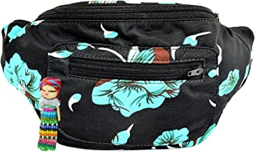 Floral Fanny Pack, Stylish Party Boho Chic Handmade with Hidden Pocket
