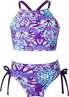 Jimmackey Neonata Bambina Infantile Farfalla Stampata Increspato Estate Costume Intero Bikini per Bambini Costumi da Bagno Bikini Costumi Bikini 2 Pezzi con Volant Mare Piscina