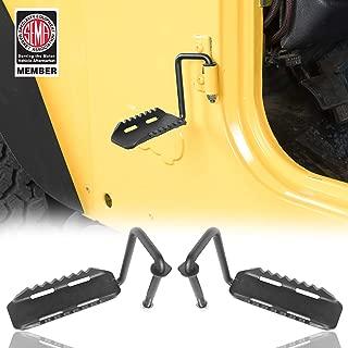 u-Box Exterior Door Front Foot Peg Rest Pedal for Jeep TJ Wrangler 97-06