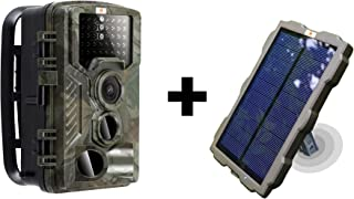 | Hunting Trail Game Camera Solar Portable Battery Pack | 46PC IR Led |Night Vision|16 MP |1080p Video| Time Lapse | Waterproof|Spy Scout Wildlife & Home Surveillance Security Cam
