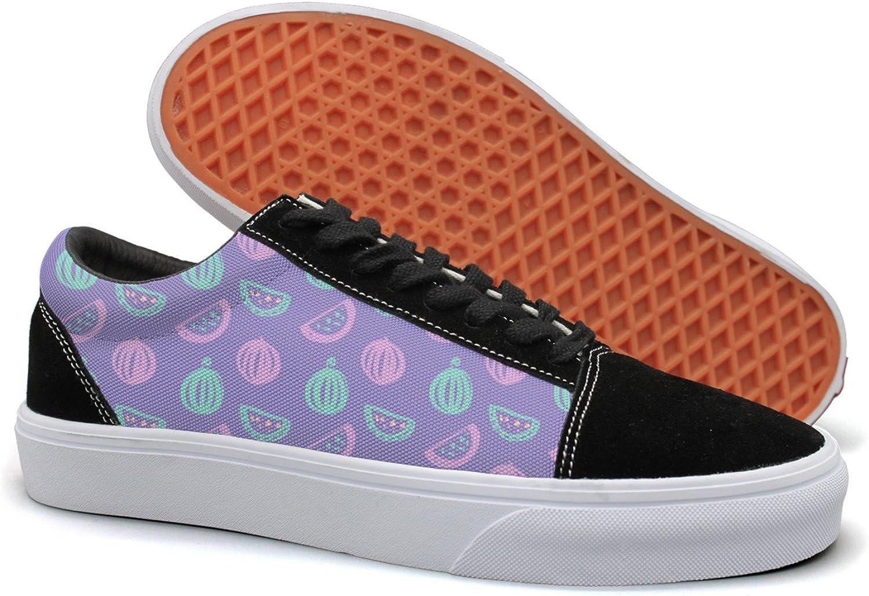 Hjkggd fgfds Casual Purple Watermelon Season Beautiful Women Canvas shoes