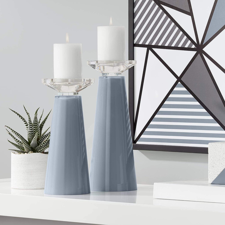Color + Plus Meghan Granite Peak Set Glass trend rank Candle Cheap sale Pillar Holder