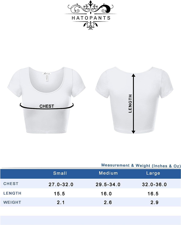Women's Cotton Basic Scoop Neck Crop Top Short Sleeve Tops