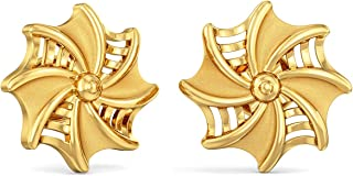 Joyalukkas Impress Collection 22k Yellow Gold Stud Earrings