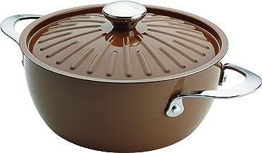 Rachael Ray 16289 Cucina Casserole, 4.5-QT, Round, Mushroom Brown