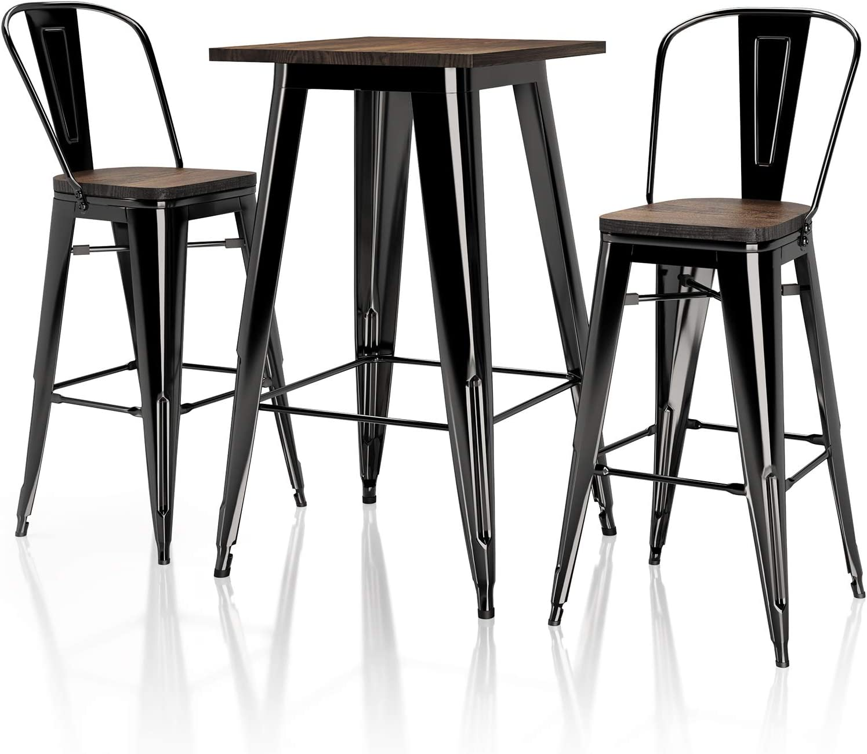Buy VIPEK 9pcs 9 Inches Height Metal Bar Chairs 9 pc 49.9 High ...