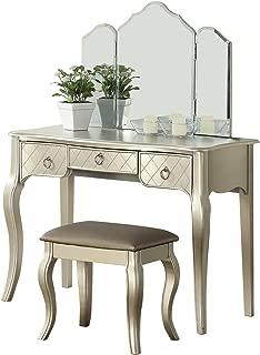 BOBKONA PDEX- Vanity Table, Silver