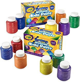 Crayola Washable Kids' Paint, Includes Glitter Paint, 12Count, Amazon Exclusive, Gift