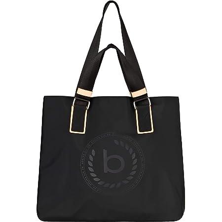 bugatti Lido Shopper Handtasche Damen, Nylon Tasche mit RFID Fach, Große Damenhandtasche Schultertasche – Schwarz