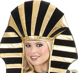 Egyptian headpeice Costume Pharoah - King TUT for Men and Women Costumes - Headdress Crown hat Black and Gold Head Piece Egyptian Pharoh