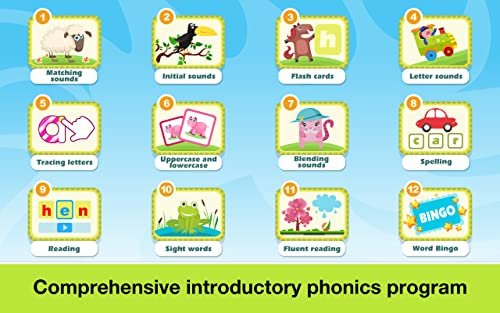 『Phonics: Fun on Farm - Reading, Spelling and Tracing Educational Program • Kids Learning Games Teaching Letter Sounds, Sight Words, ABC Flash Cards Quiz & Alphabet for Preschool, Toddler, Kindergarten and 1st Grade Explorers by Abby Monkey®』の4枚目の画像